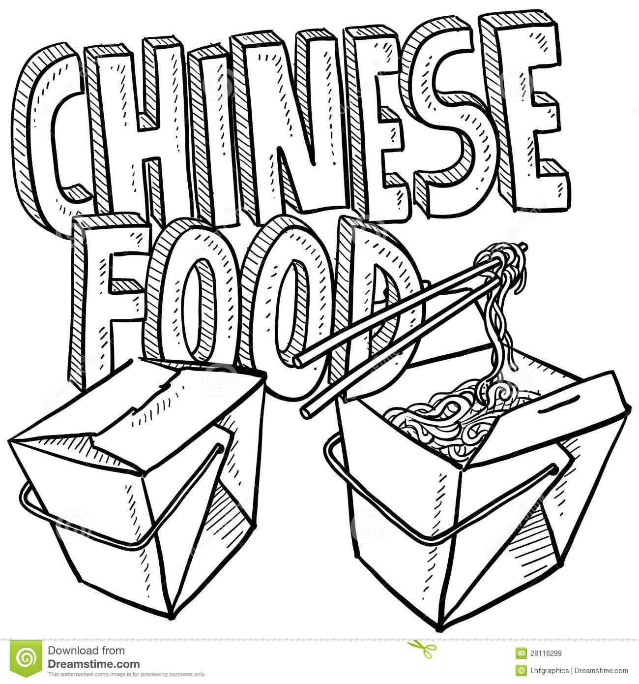 Chinese Food Sketch Royalty Free Stock Images - Image ...