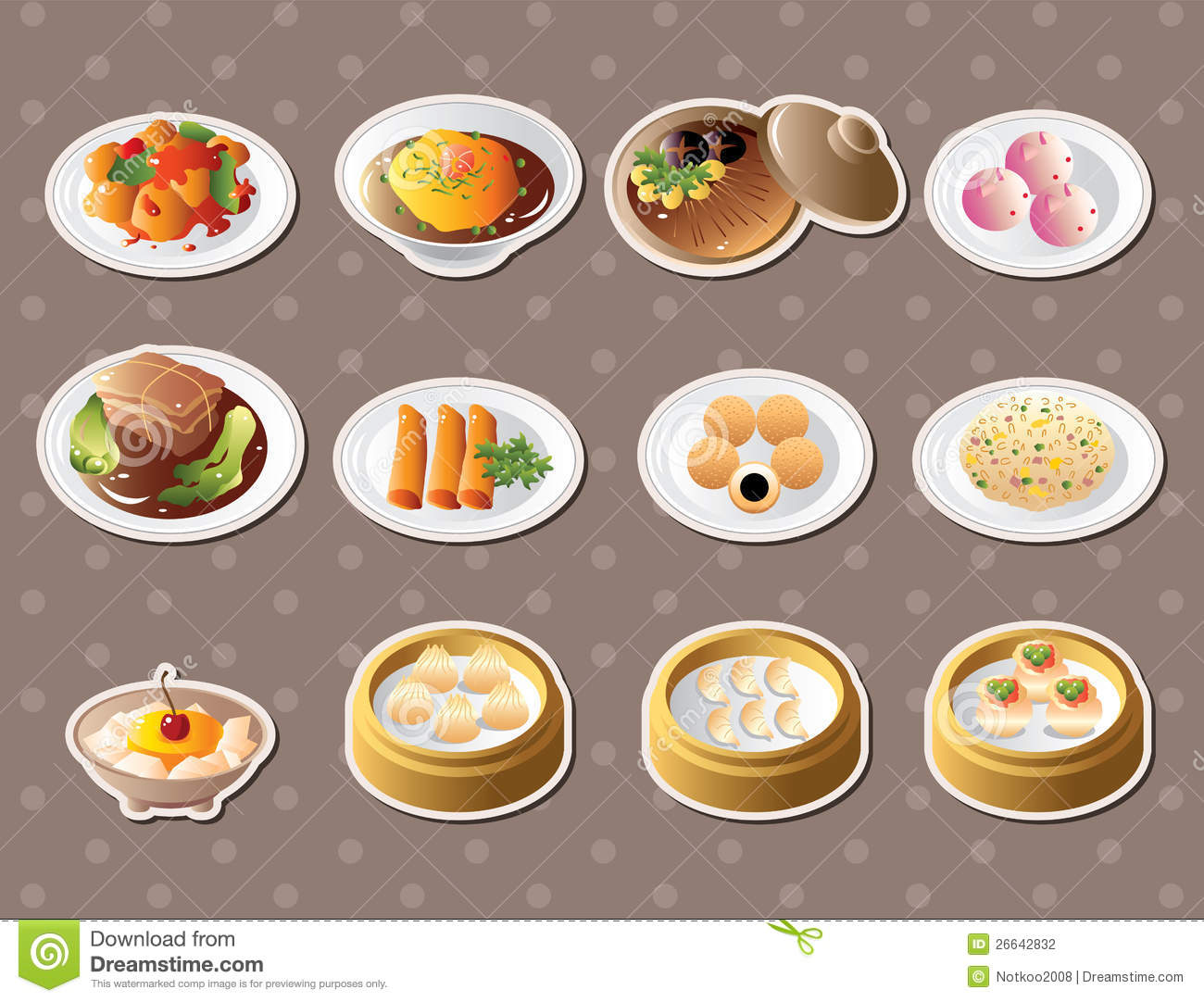 chinese food stickers stock vector image of china Cod Fish Clip Art Shrimp and Fish