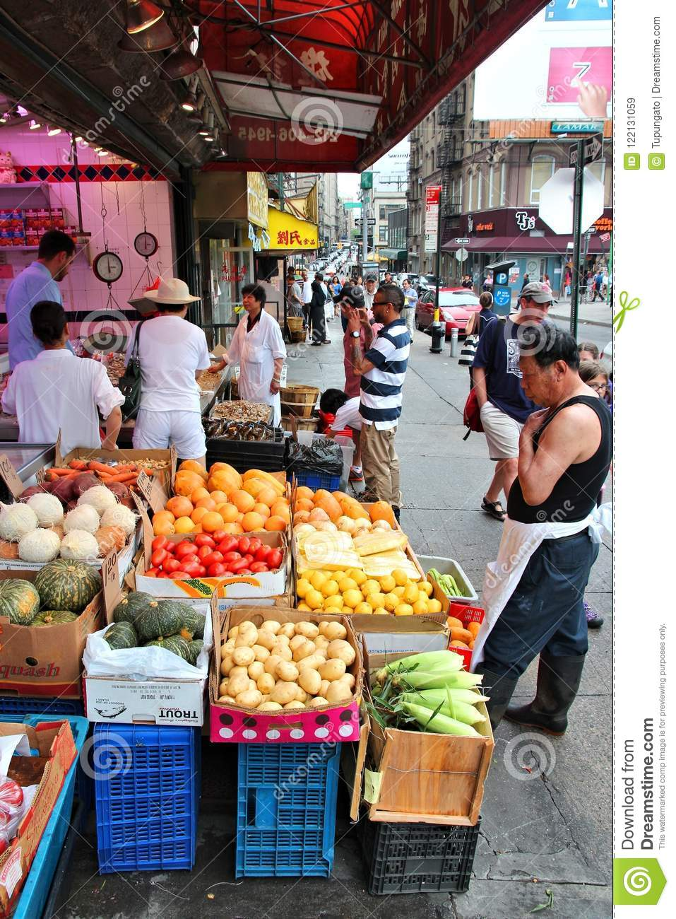 Chinese Food Store Editorial Stock Image Image Of American 122131059