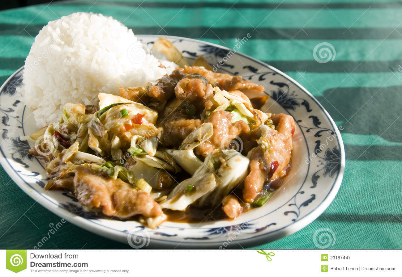 chinese food twice cooked chicken royalty free stock