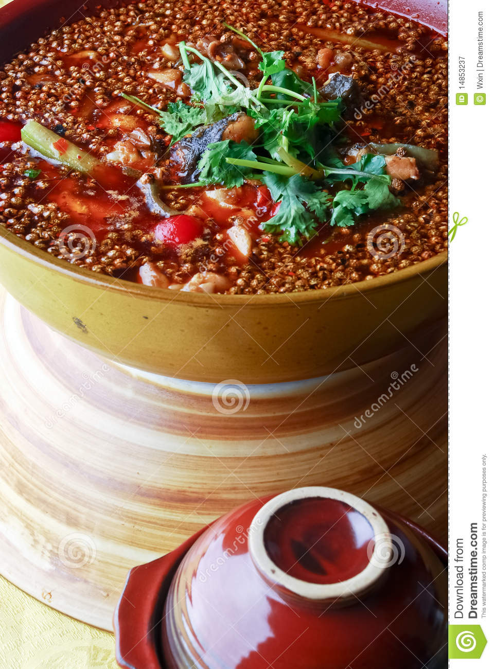 Chinese food-- water-boiled fish