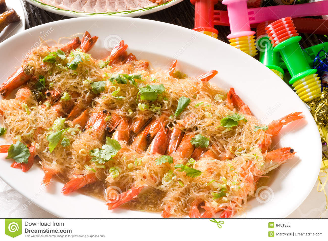 Chinese Fried Garlic Shrimp Stock Photos - Image: 8461853