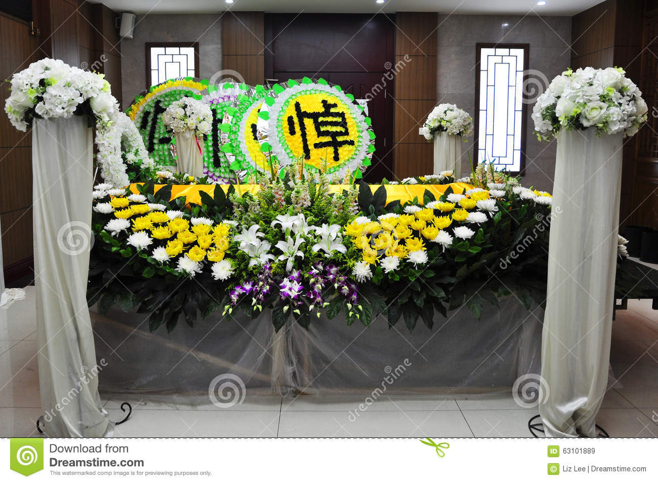 Chinese funeral stock image image of death chrysanthemum 63101889 chinese funeral izmirmasajfo