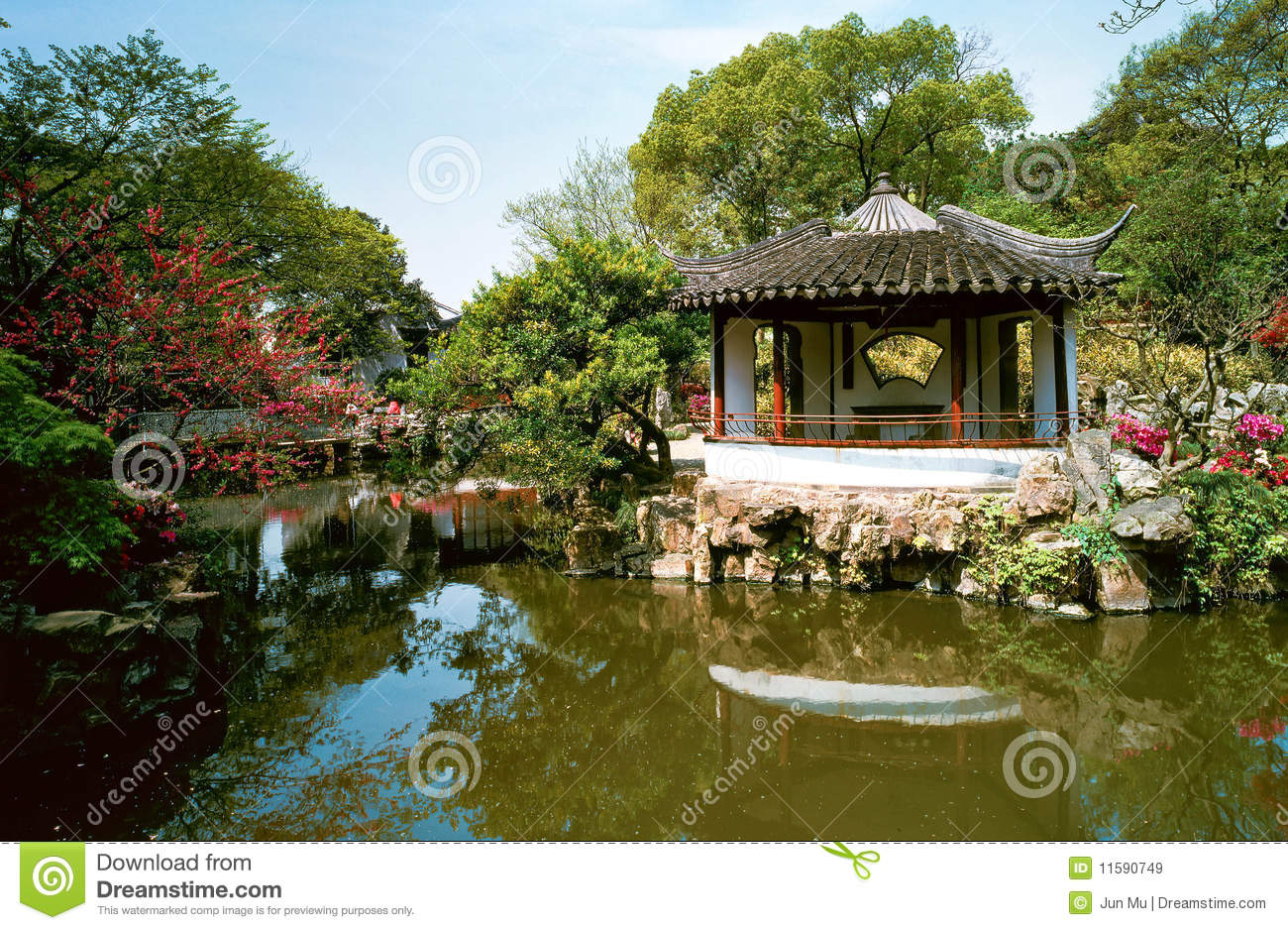 Chinese garden royalty free stock images image 11590749 for Garden pond design software free download