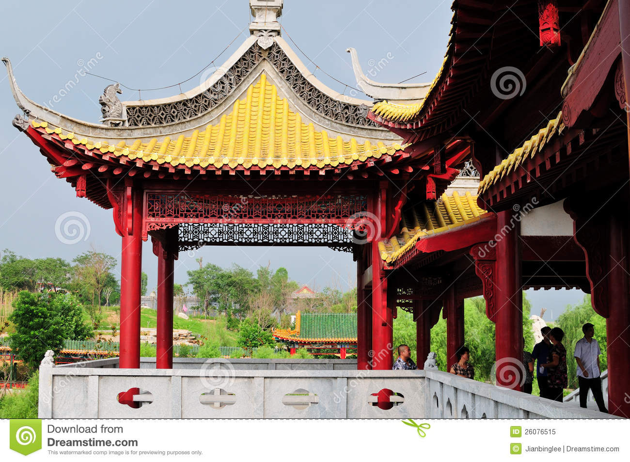 Chinese Garden Editorial Image Image 26076515