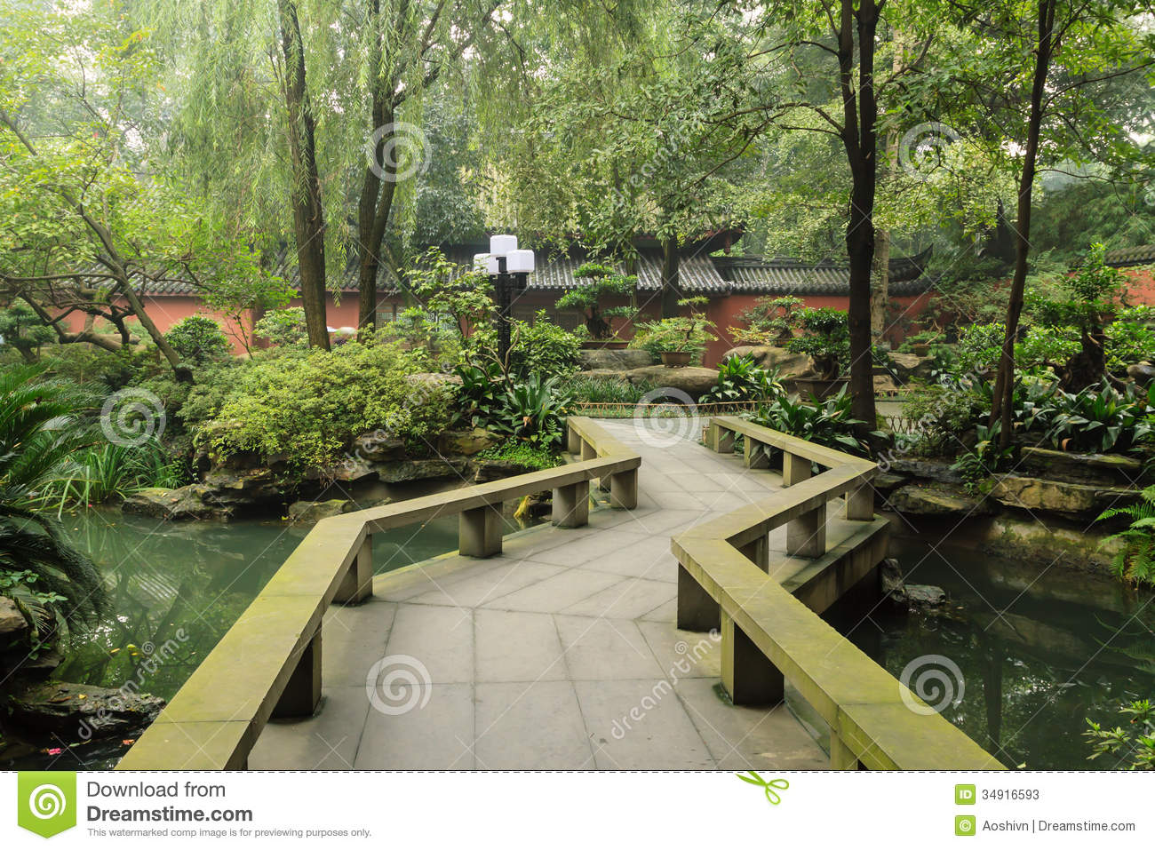 Chinese garden stock photos image 34916593 for Outdoor landscaping
