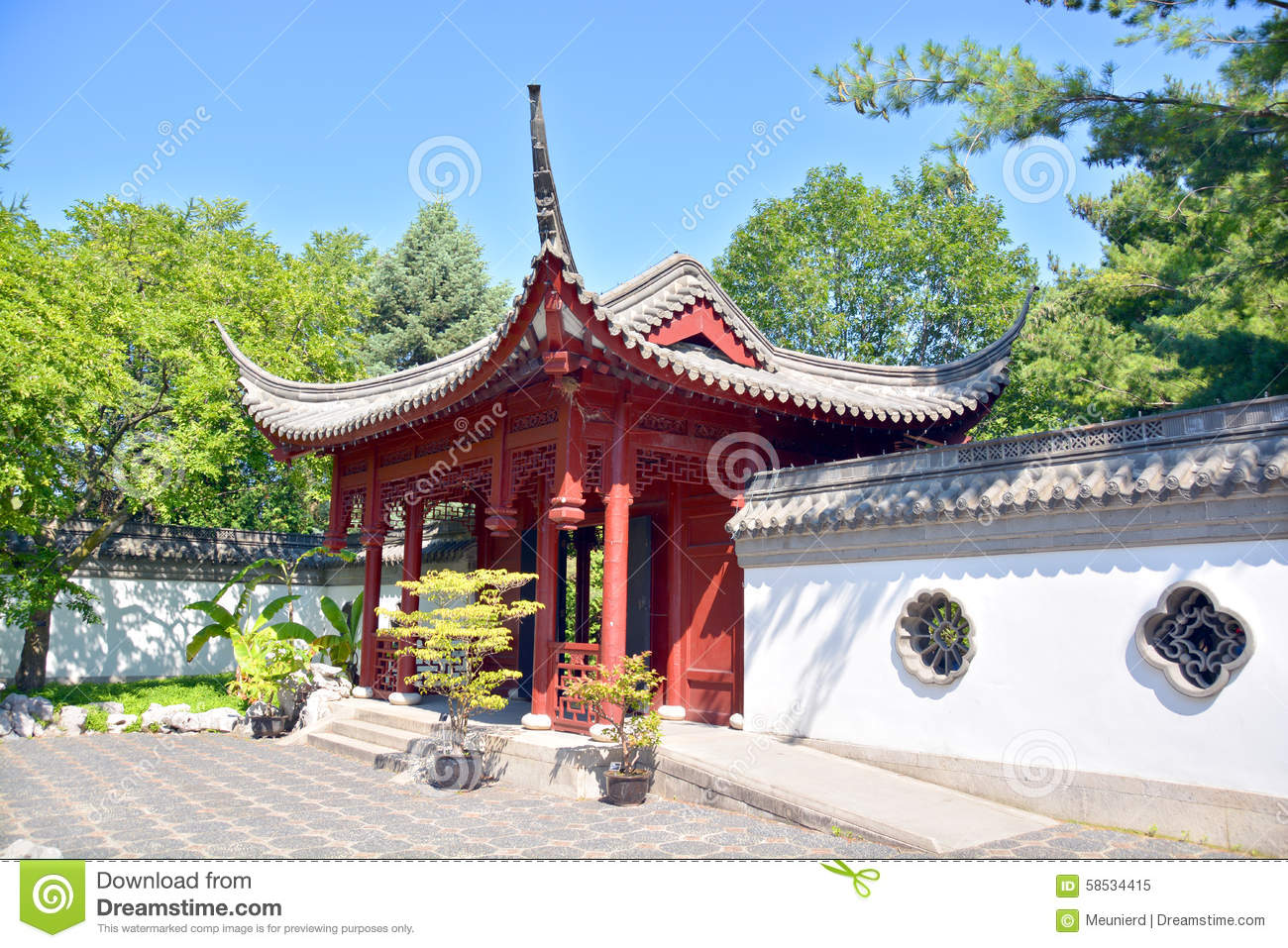Chinese garden stock photo image 58534415 for Garden and its importance