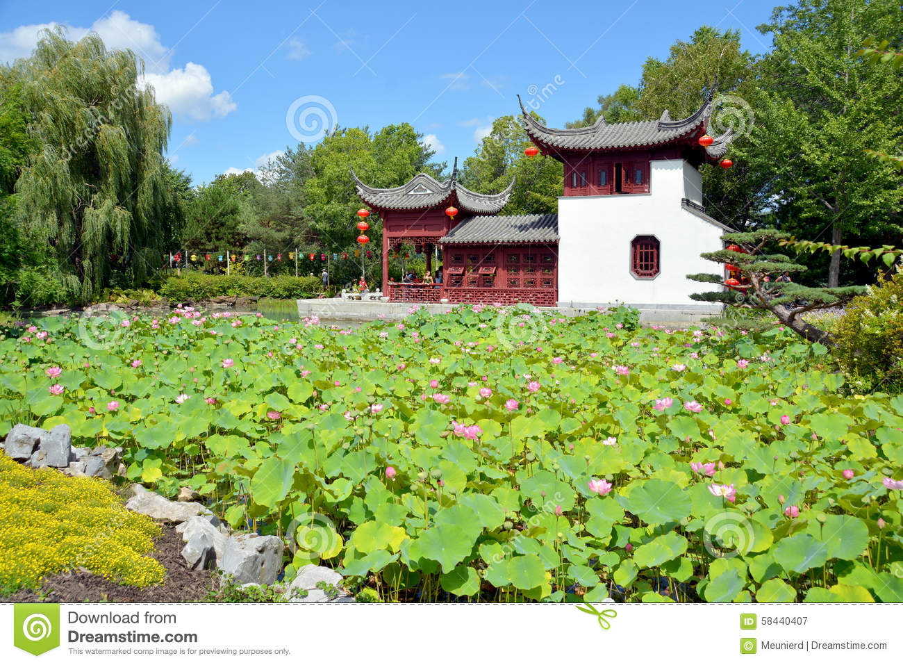 Chinese garden stock photo image 58440407 for Garden and its importance
