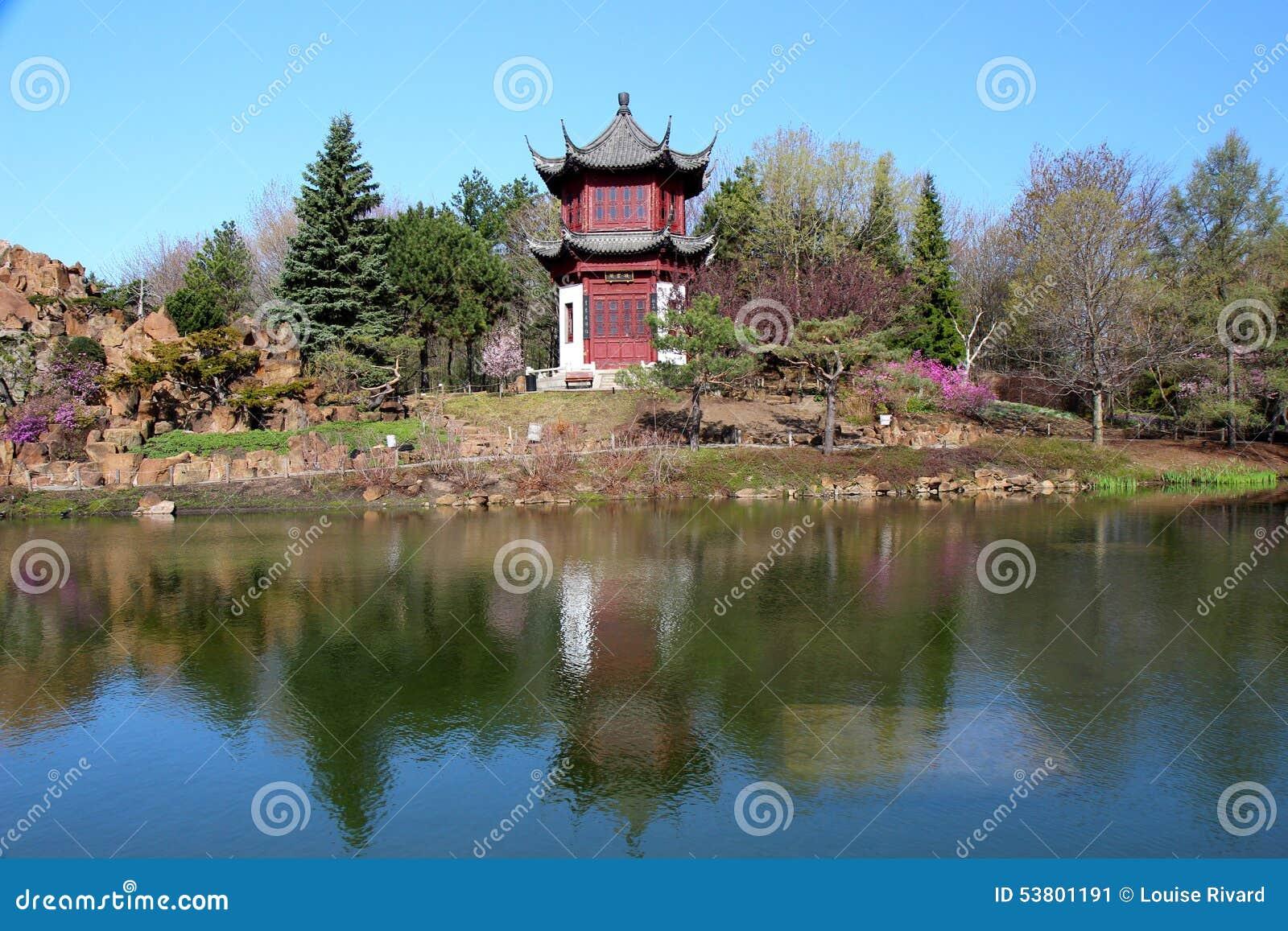 Chinese garden at spring