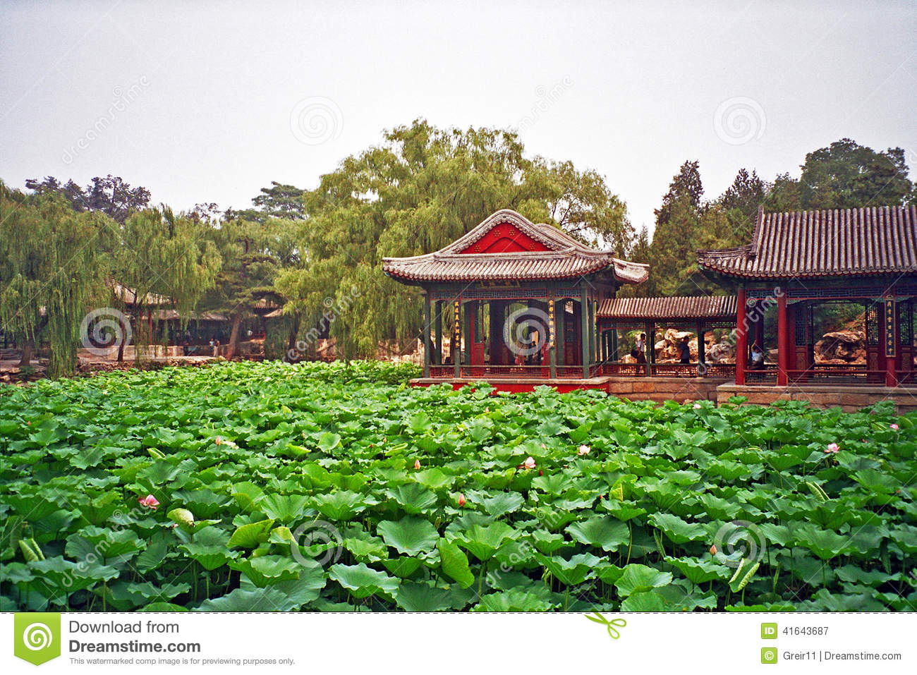 Chinese Garden In Summer Palace Beijing China Stock