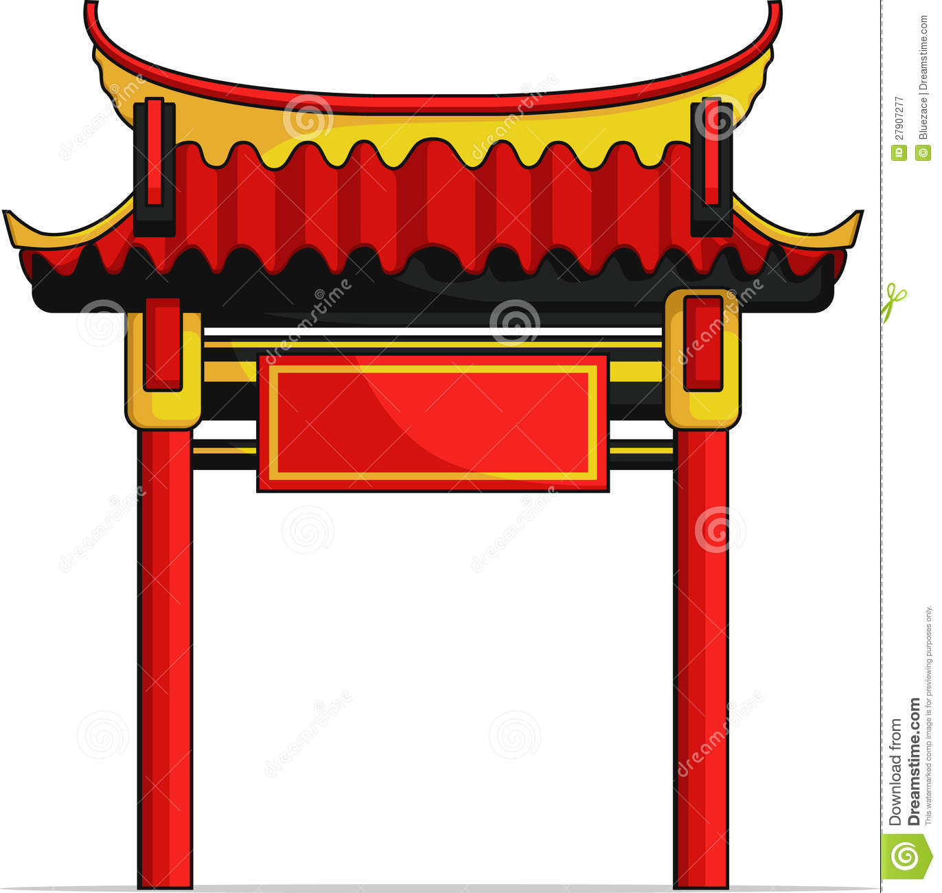 Chinese Gate Royalty Free Stock Photography Image 27907277