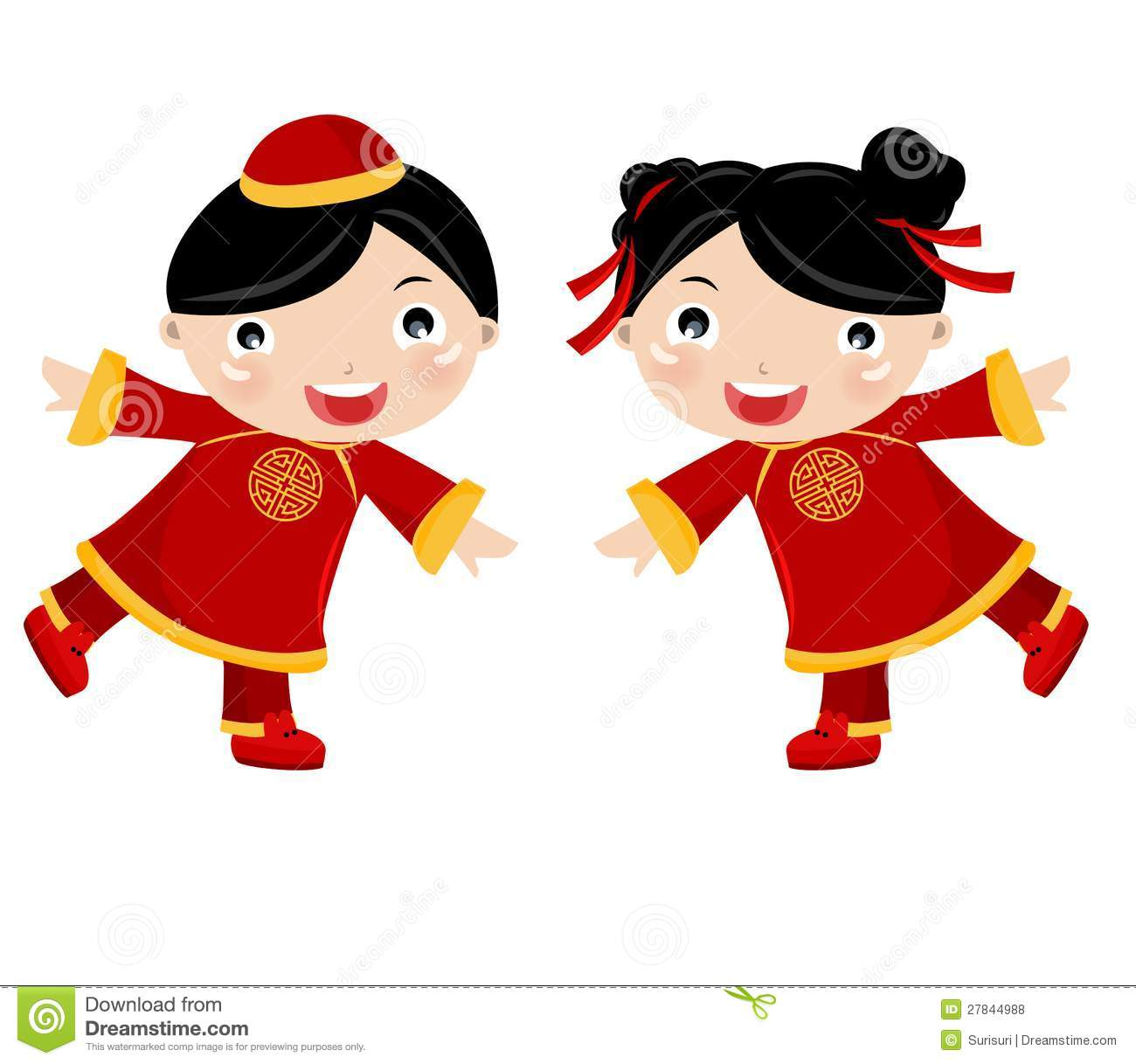 Chinese Girl-Boy Royalty Free Stock Photos - Image: 27844988