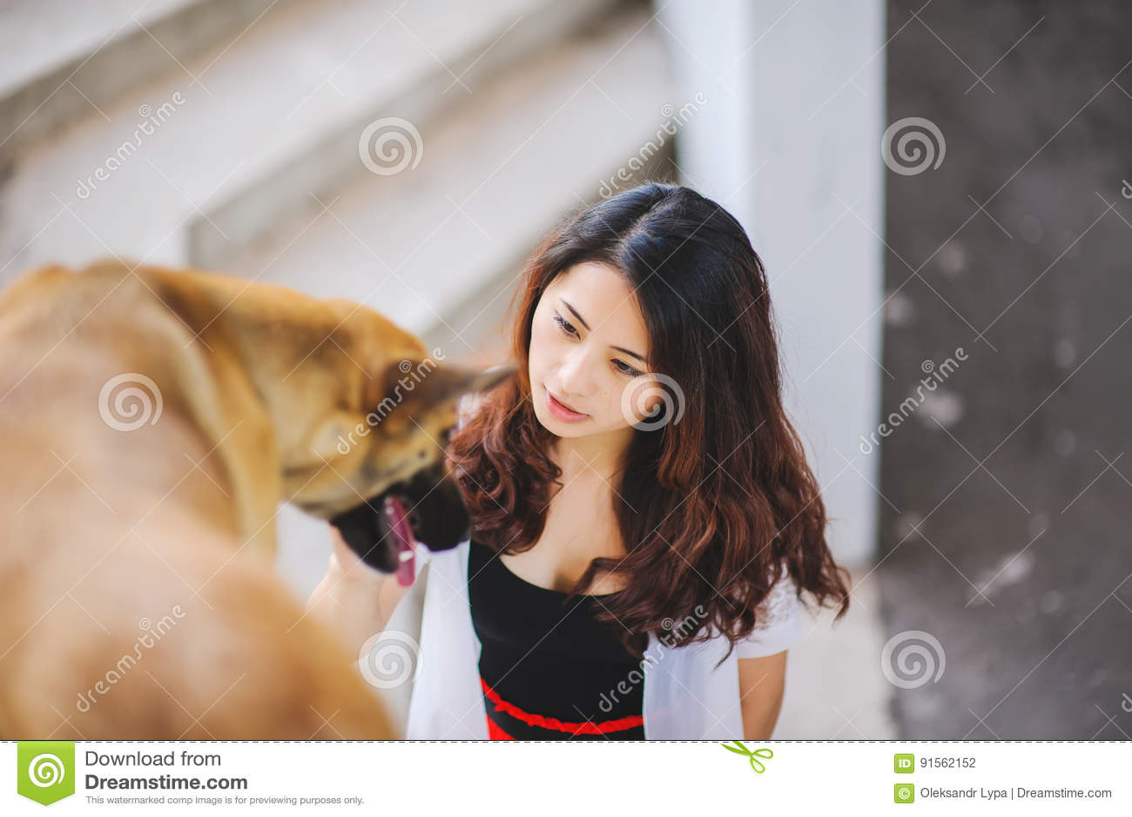 girls Asian pet