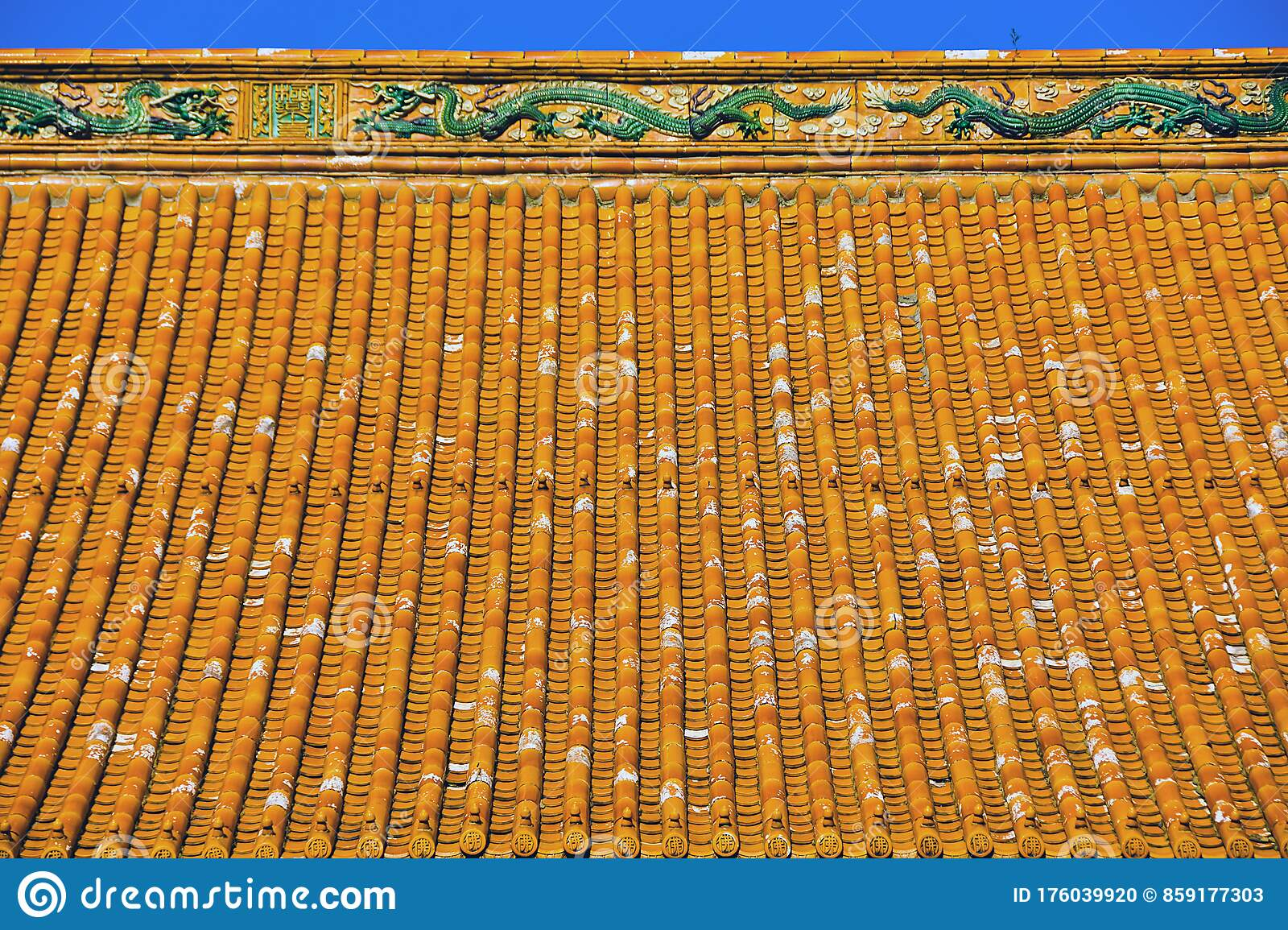 Chinese Glazed Roof Tile Stock Photo Image Of Palace 176039920