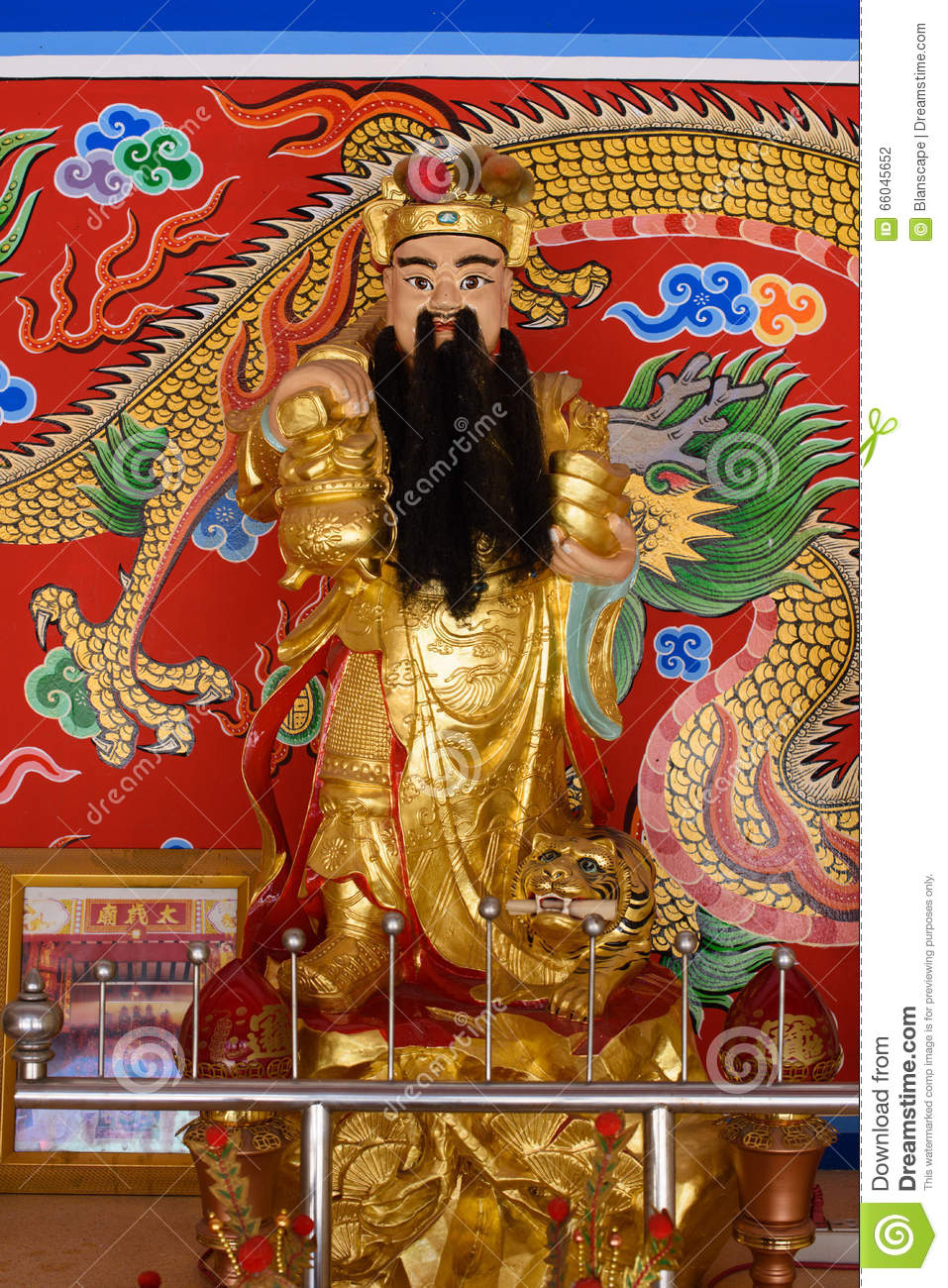 Chinese God of wealth rich and prosperity