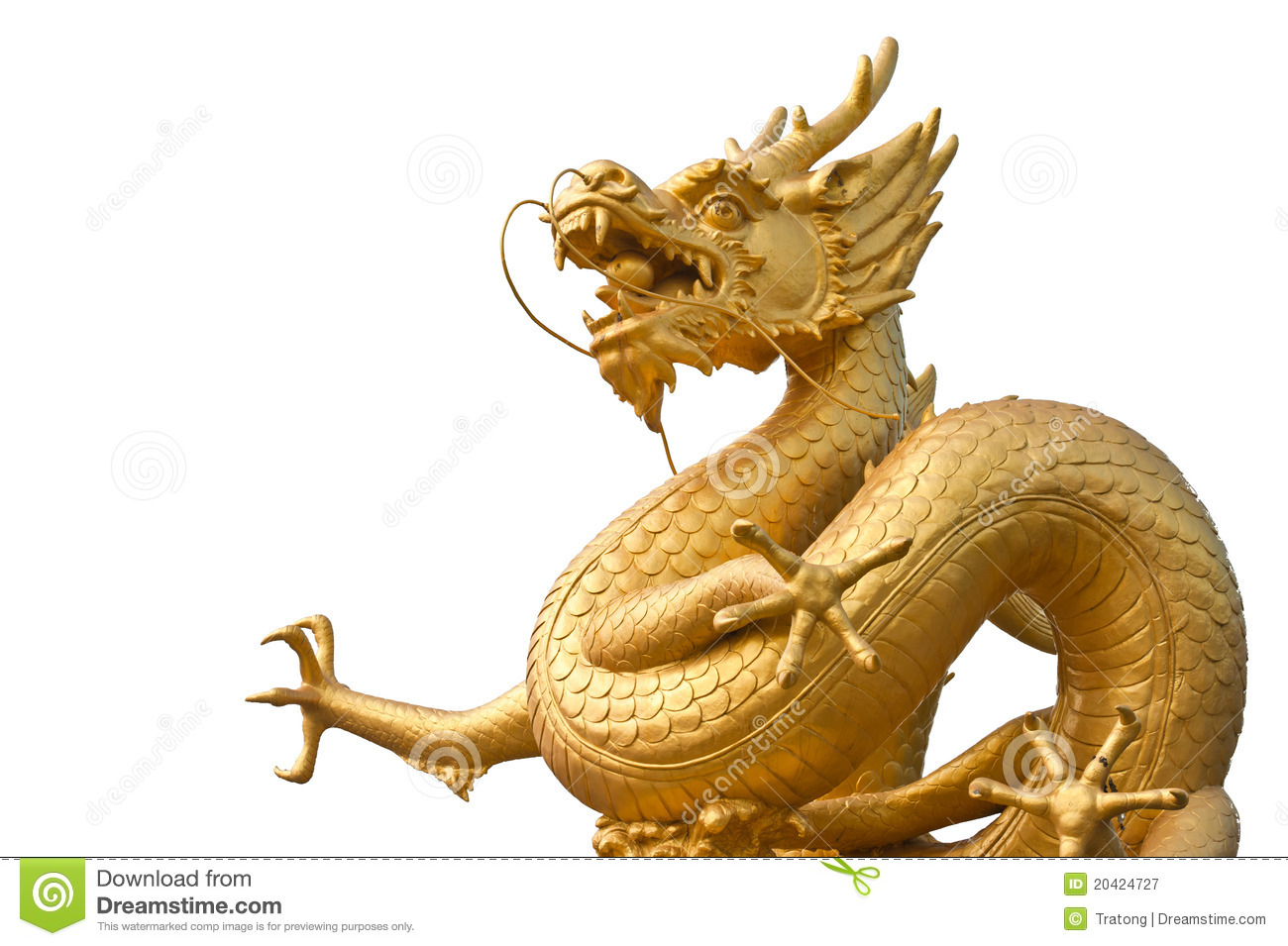 Chinese Golden Dragon Statue Stock Image Image 20424727