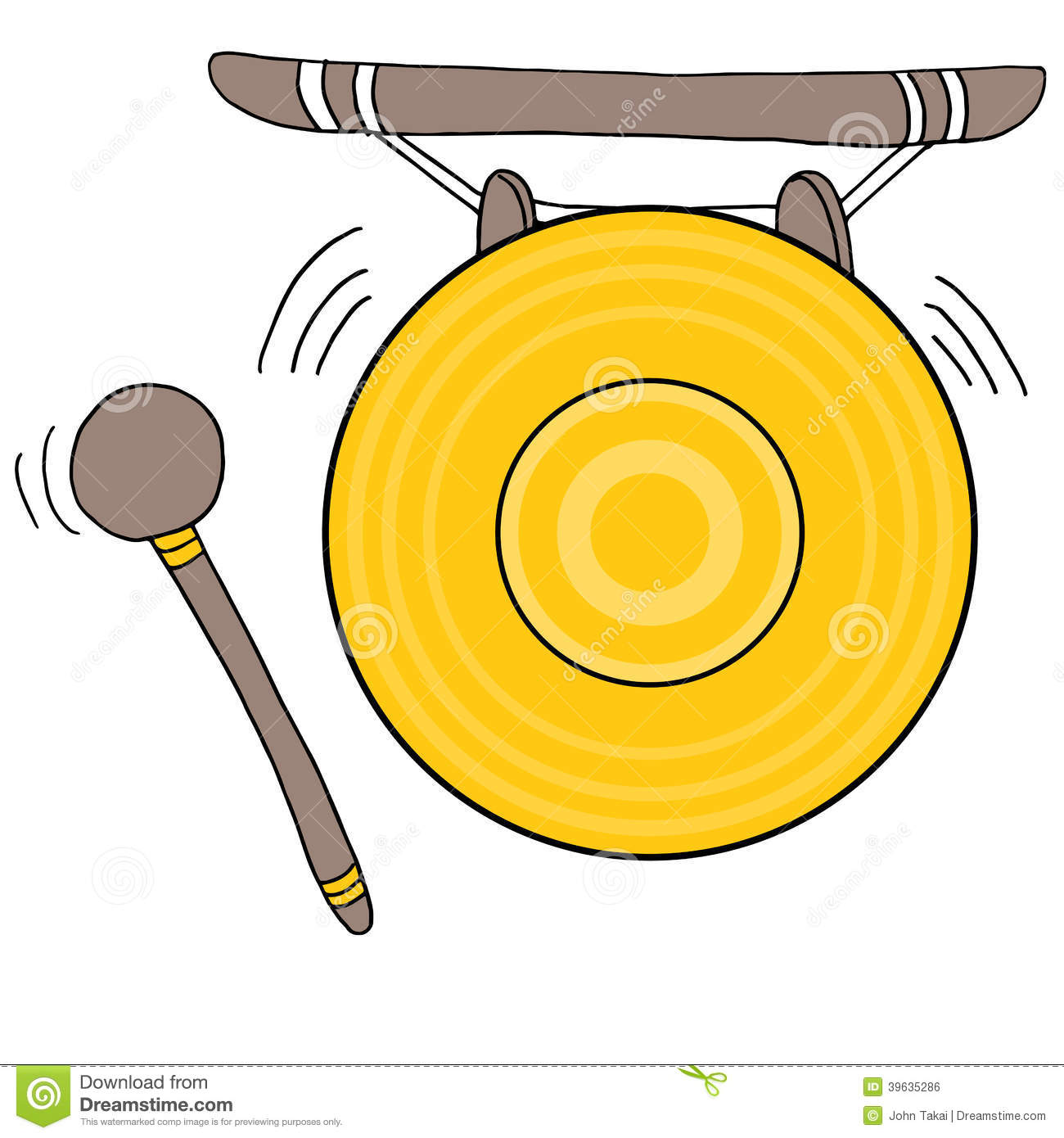Chinese Gong Stock Vector - Image: 39635286