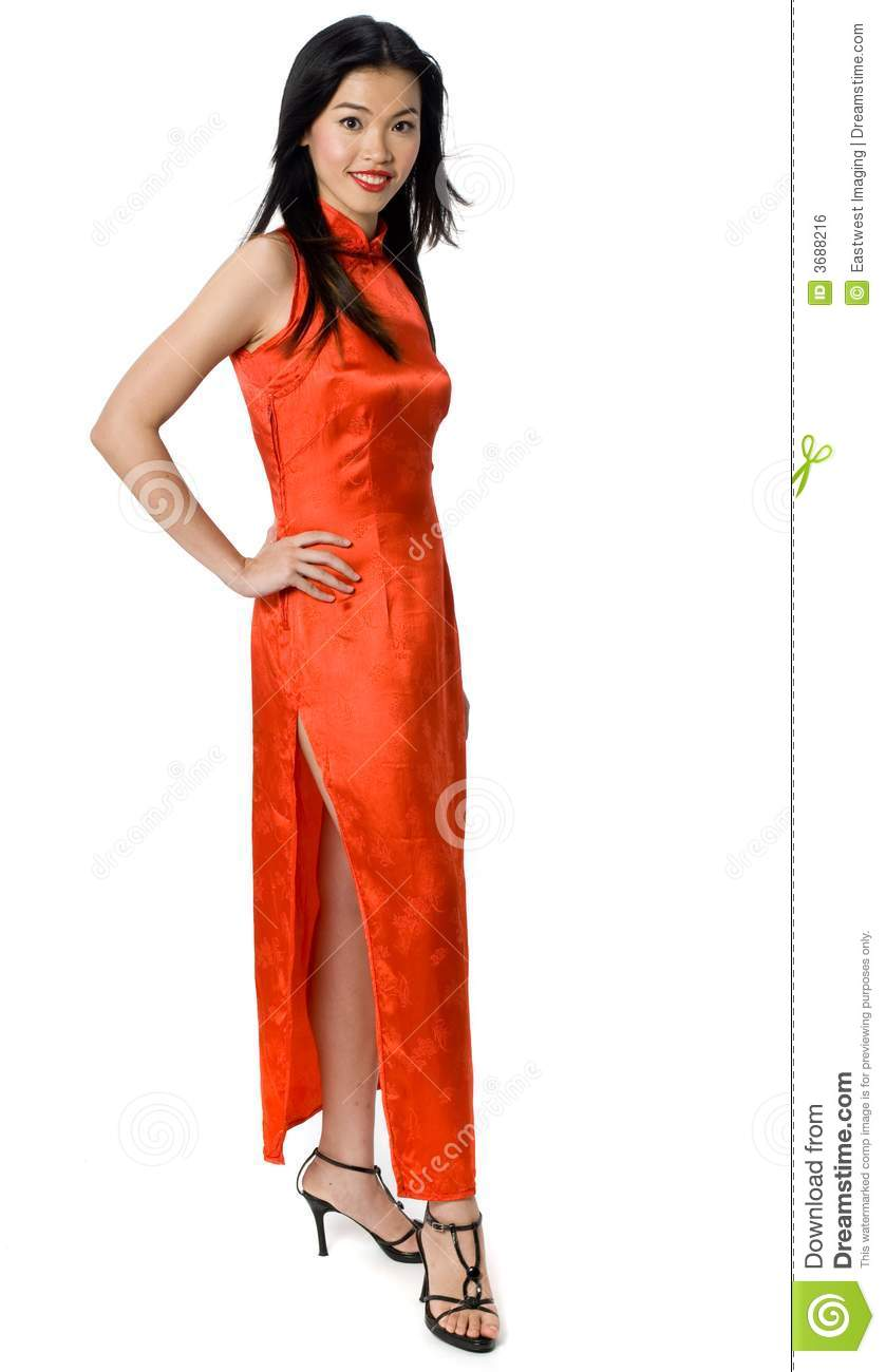 Chinese Gown stock photo. Image of woman, studio, person - 3688216
