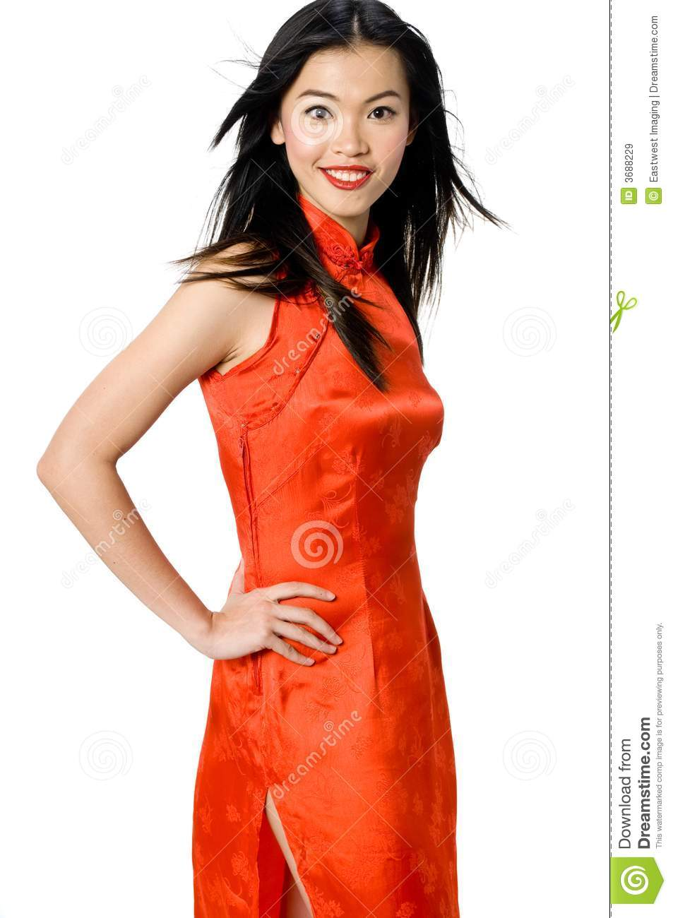 Chinese Gown stock image. Image of pose, asian, pretty - 3688229