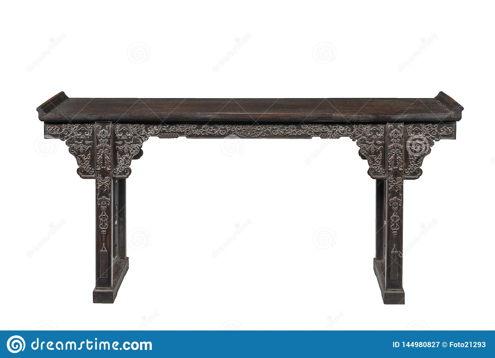 Chinese Hardwood Alter Table Stock Image - Image of asian, asia