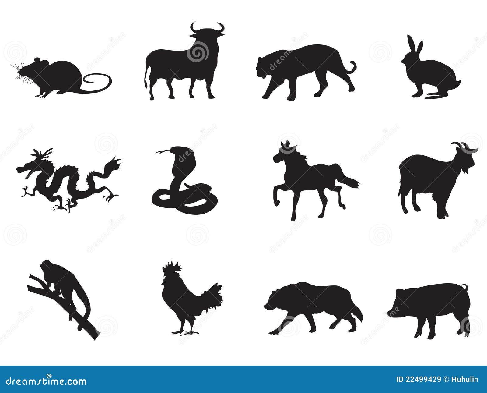 Chinese Horoscope Icons Royalty Free Stock Images  Image