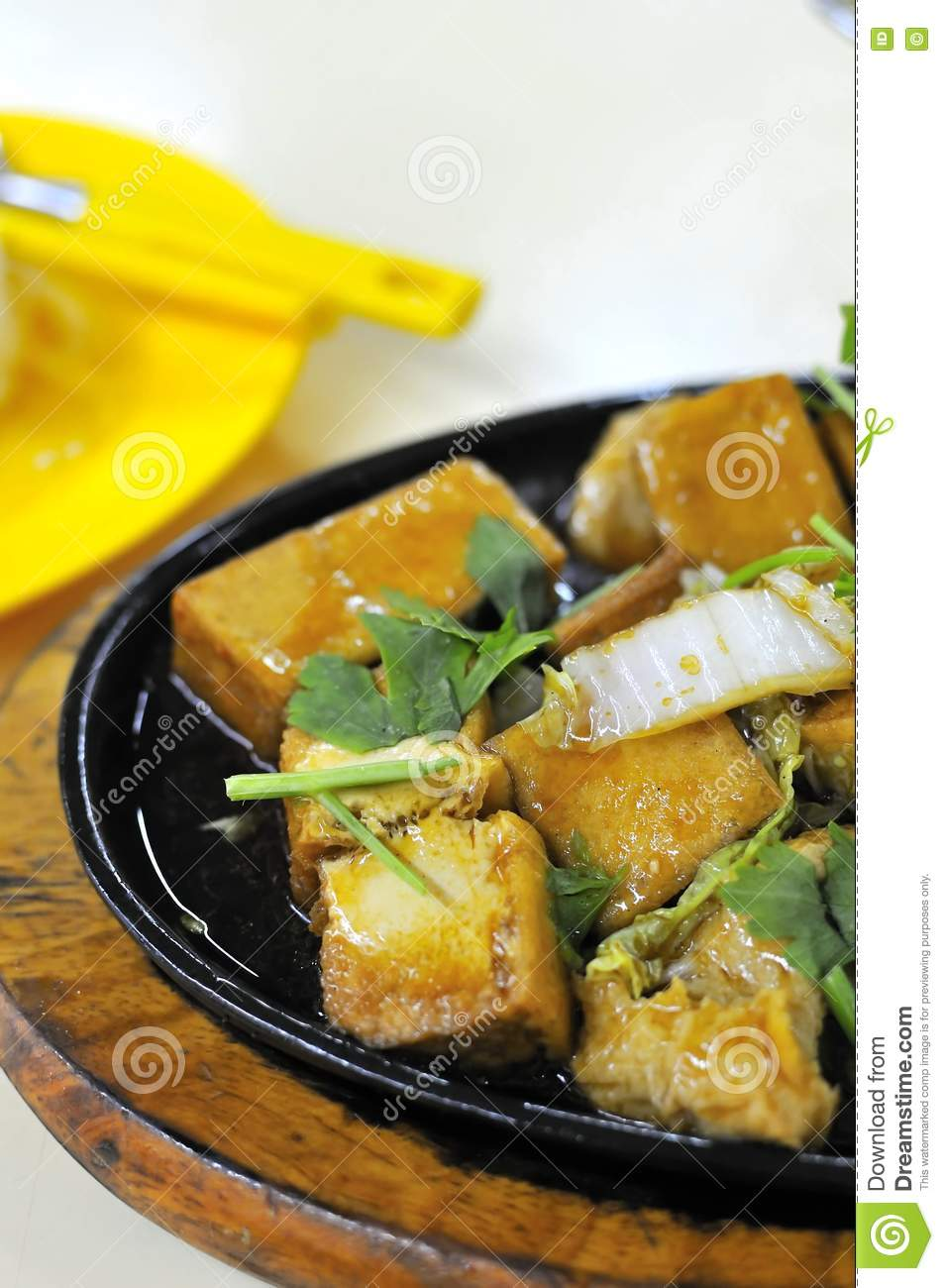 Chinese Hot Plate Bean Curd Cuisine Stock Photo