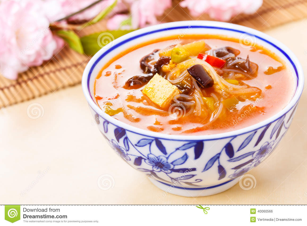 Chinese Hot And Sour Soup Stock Photo - Image: 40060566