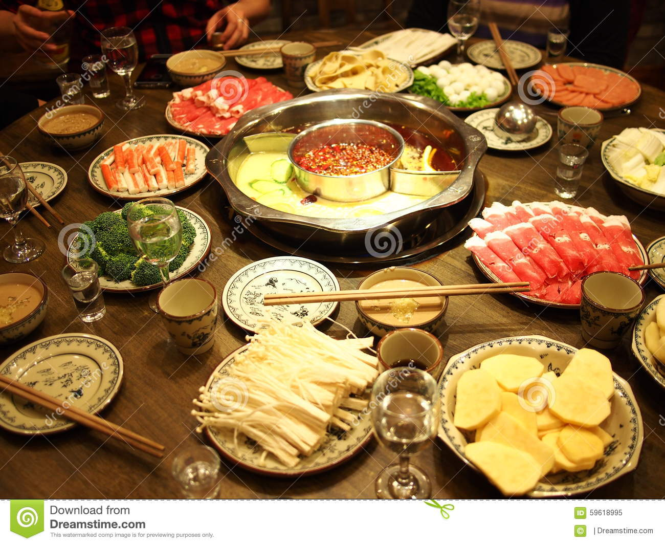 Chinese hot pot clipart