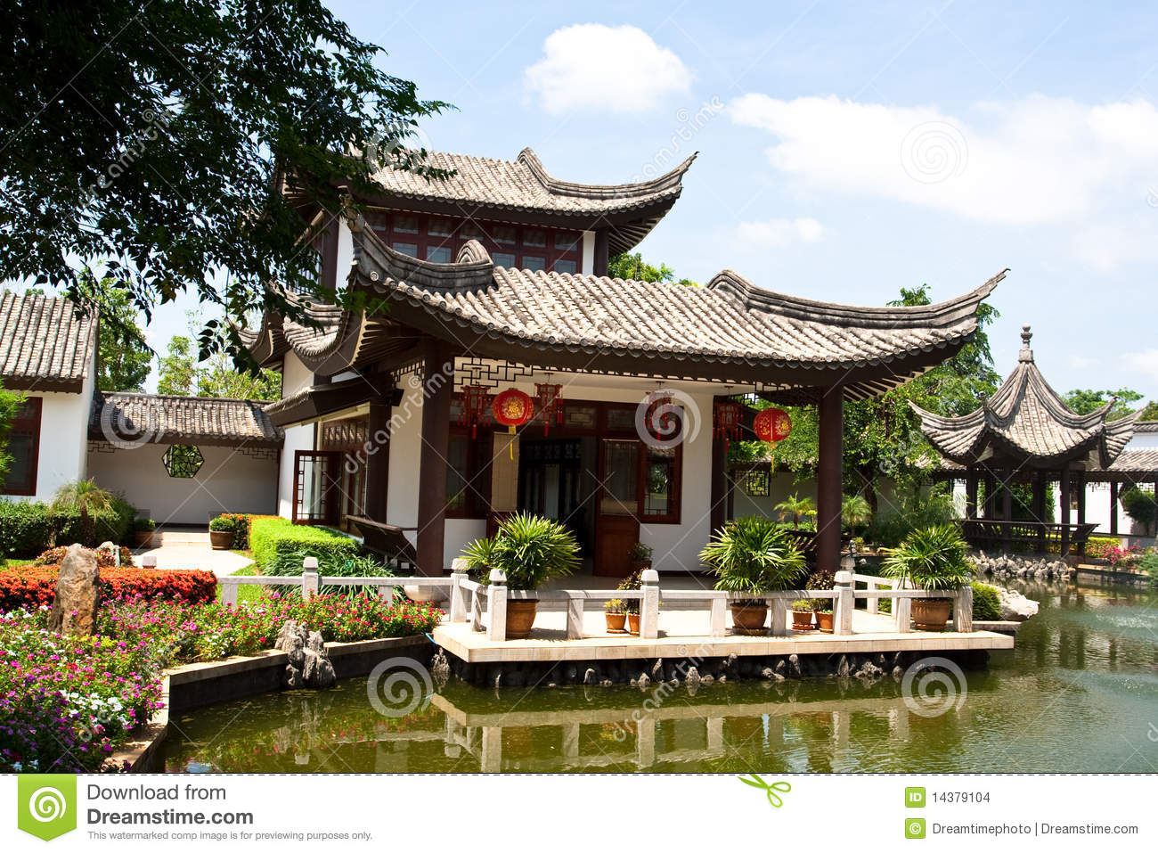 Chinese house stock images image 14379104 for Traditional chinese house plans