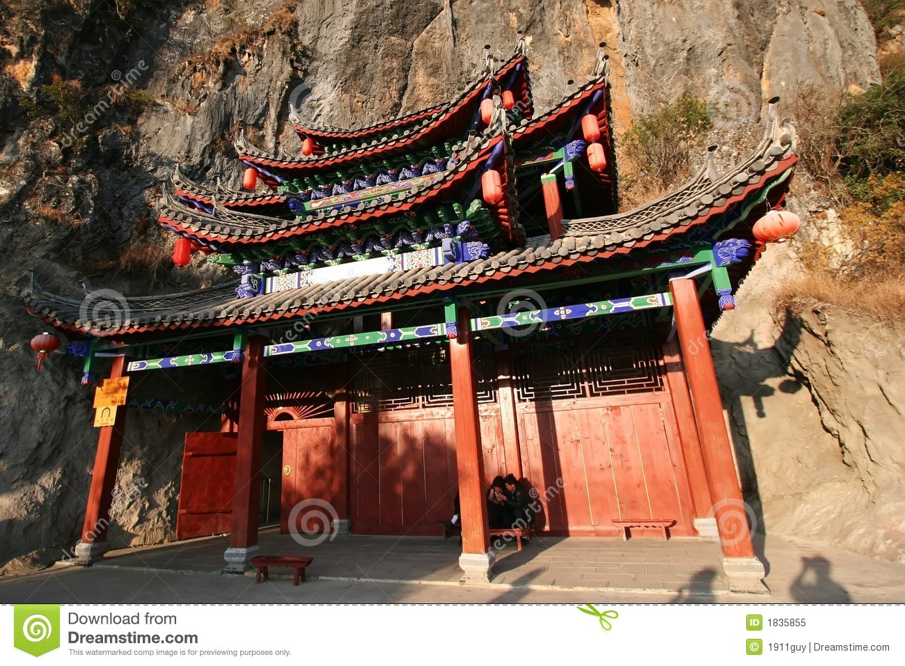 Chinese House In A Mountain Stock Image Image 1835855