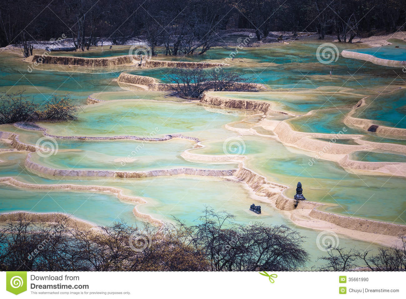 Chinese huanglong scenic area stock photo image 35661990 for Chinese in the area
