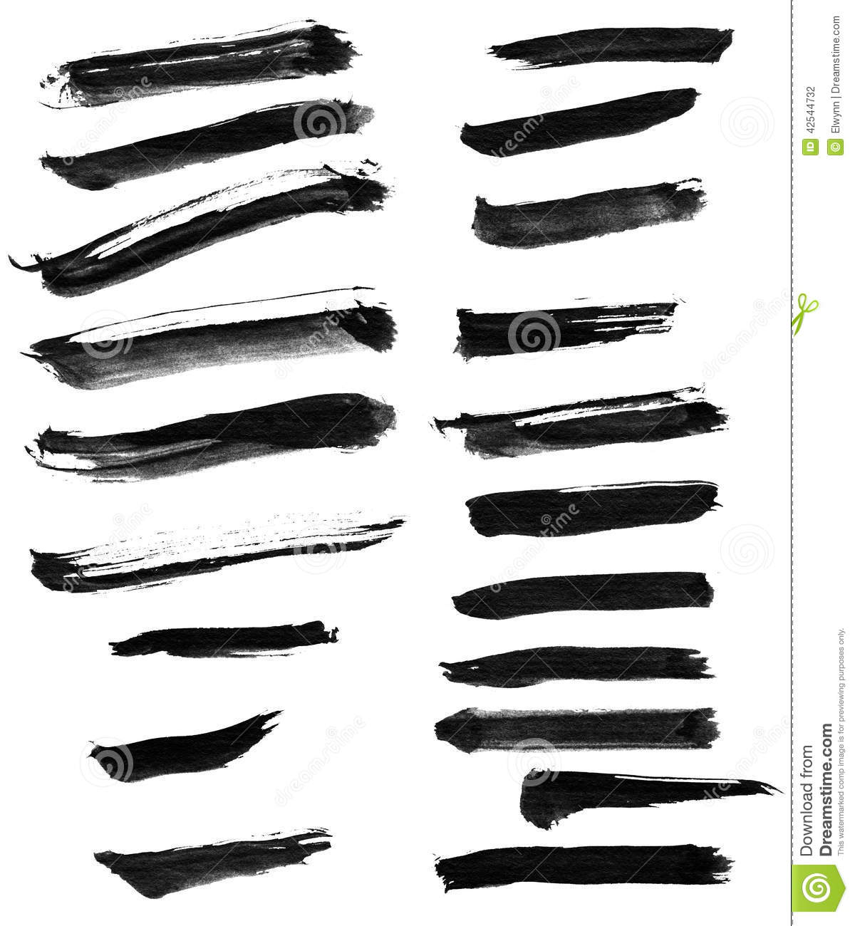 Chinese ink calligraphy brush stock illustration image
