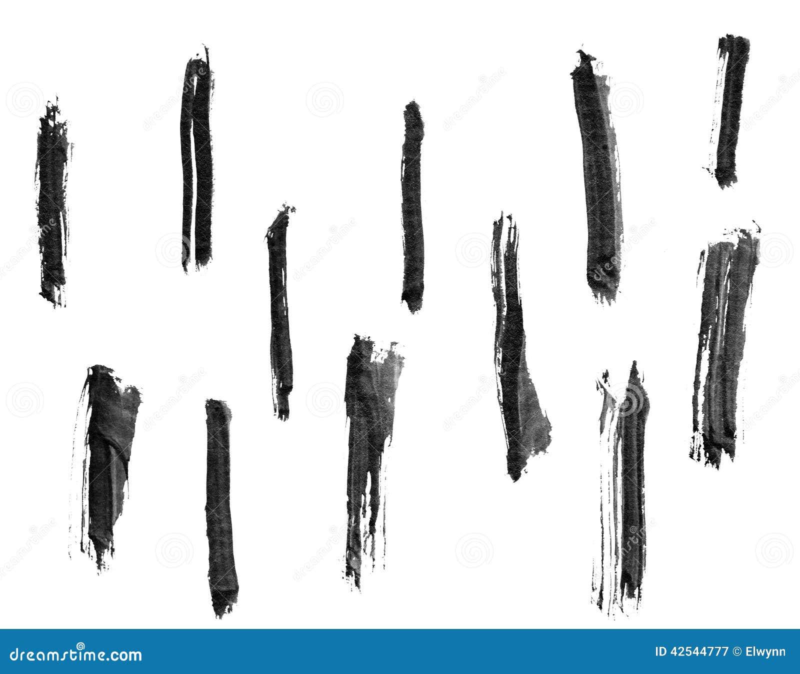Chinese Ink Calligraphy Brush Stock Illustration Image