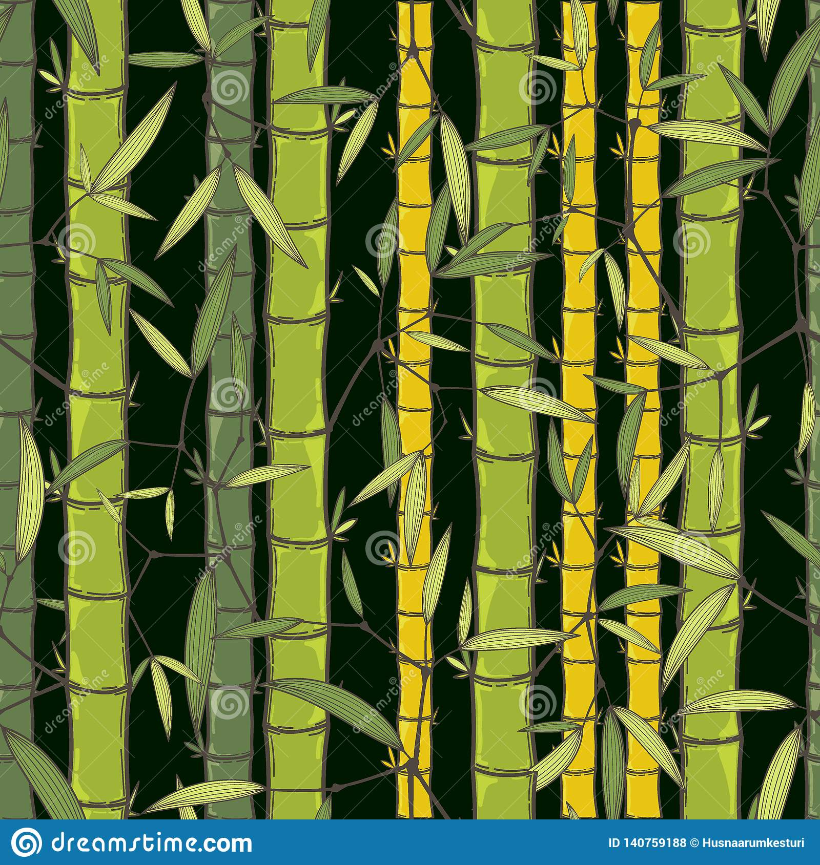 Chinese Or Japanese Bamboo Grass Oriental Wallpaper Vector Illustration Tropical Asian Seamless Background Stock Vector Illustration Of Design Abstract 140759188