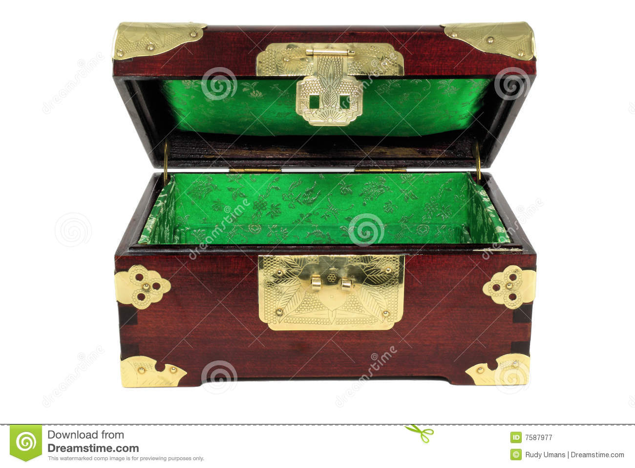 Chinese Jewelry Box Open Royalty Free Stock Photography Image