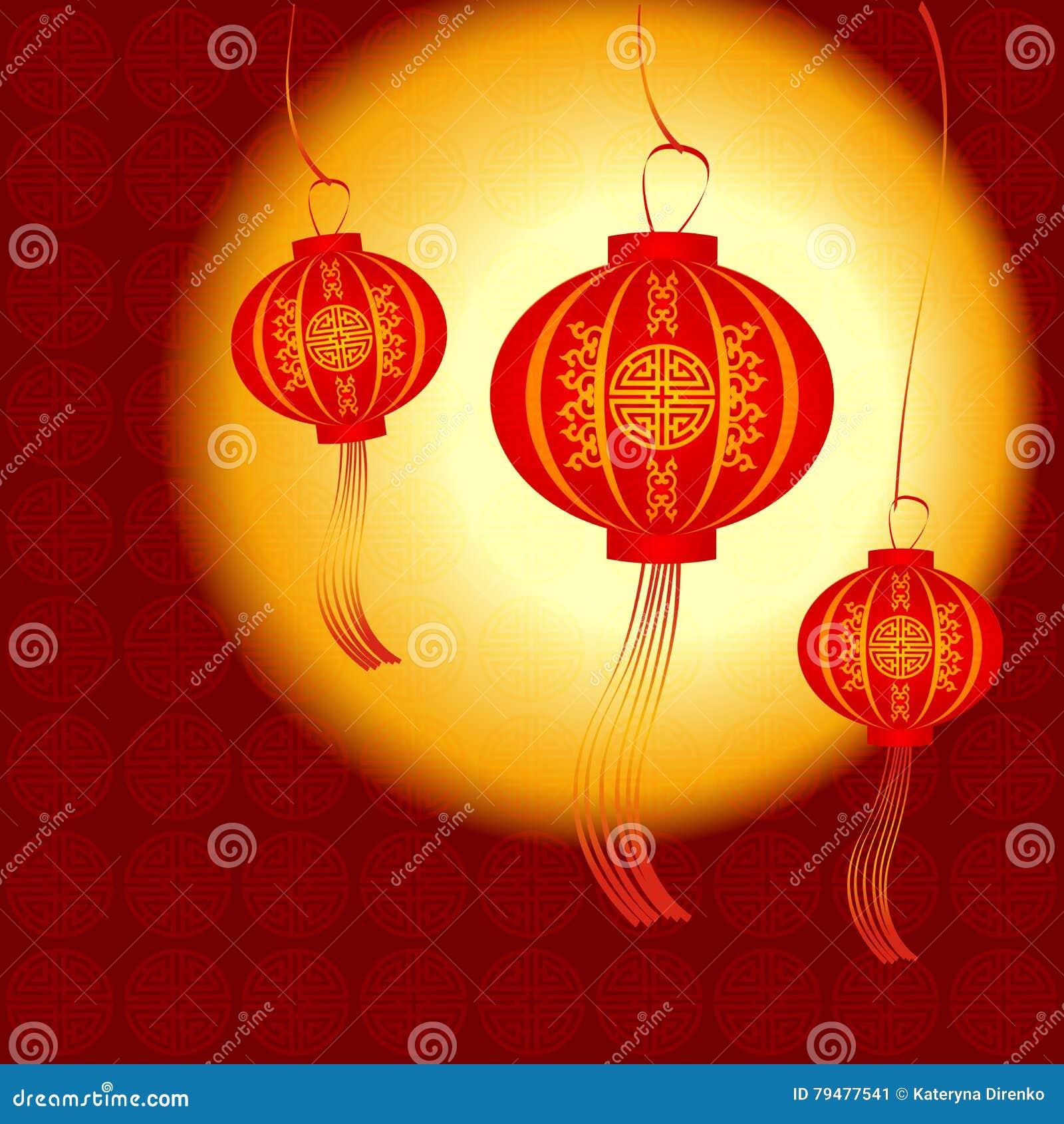 chinese lantern vector illustration