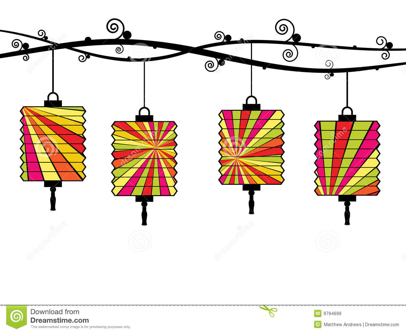 Chinese Lanterns Royalty Free Stock Images - Image: 9794699