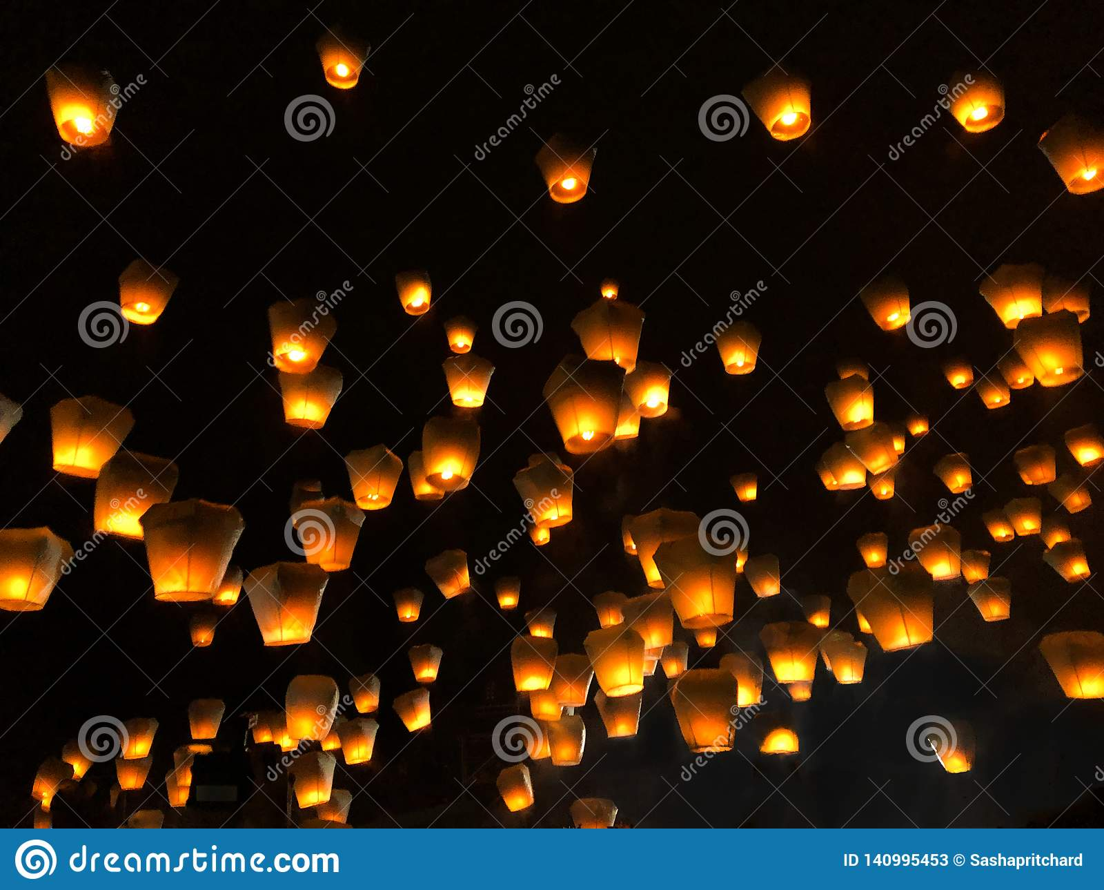 Chinese lanterns during the lantern festival
