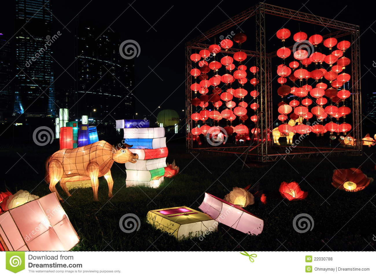 Chinese lanterns for mid-autumn festival