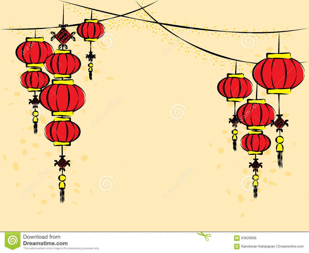 Chinese lanterns vector stock vector image 63629666 for Chinese vector