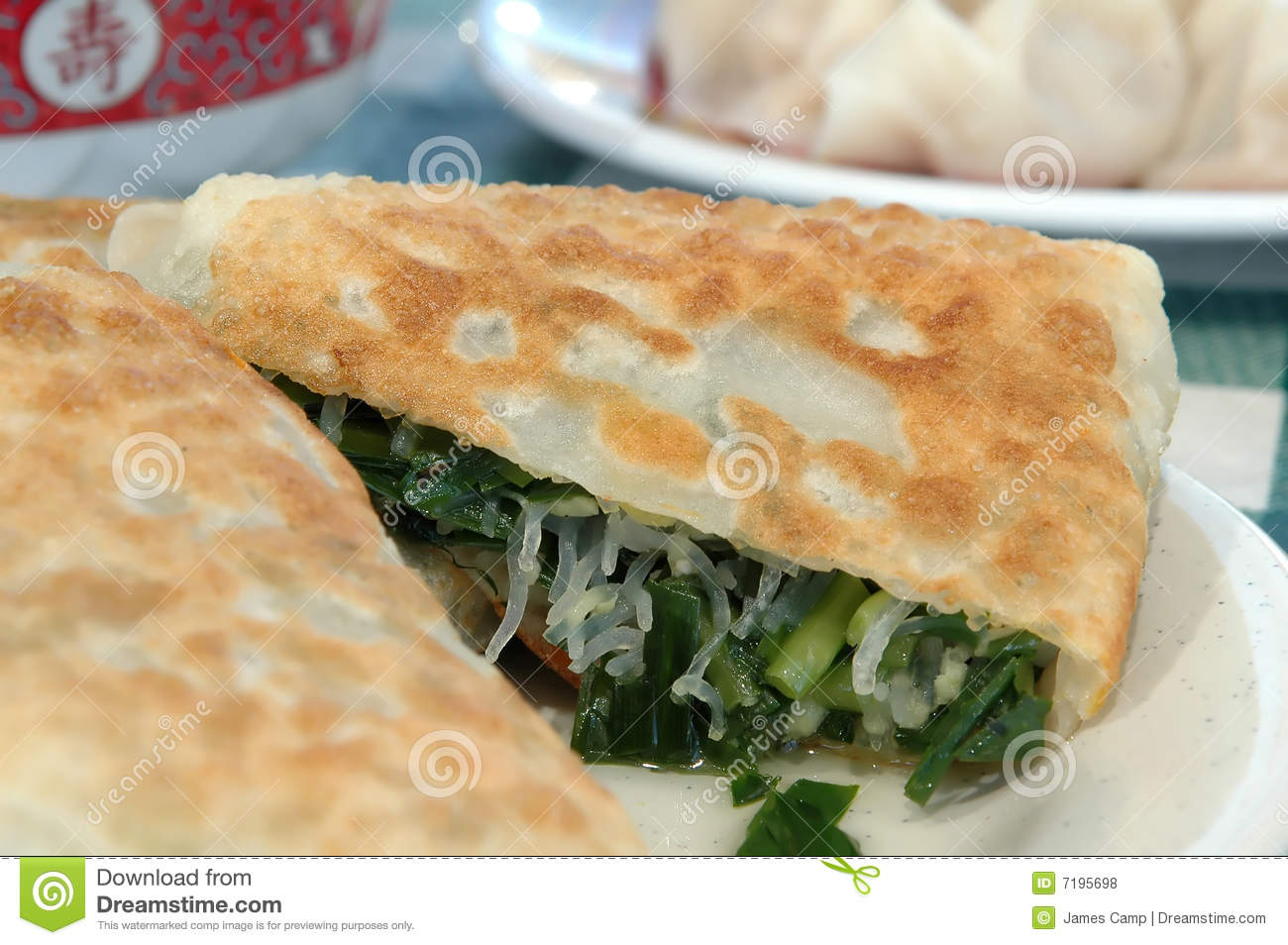 Chinese leek pie