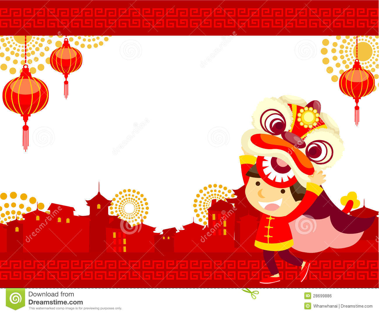 illustration and background for chinese new year theme