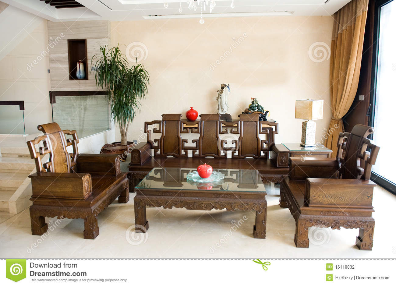 Chinese Living Room Stock Photography Image - Chinese living room design