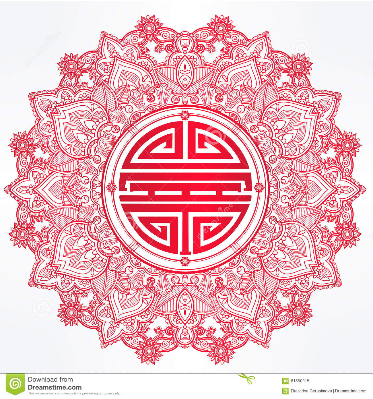 Chinese longevity good luck mandala stock vector illustration chinese longevity good luck mandala biocorpaavc Gallery