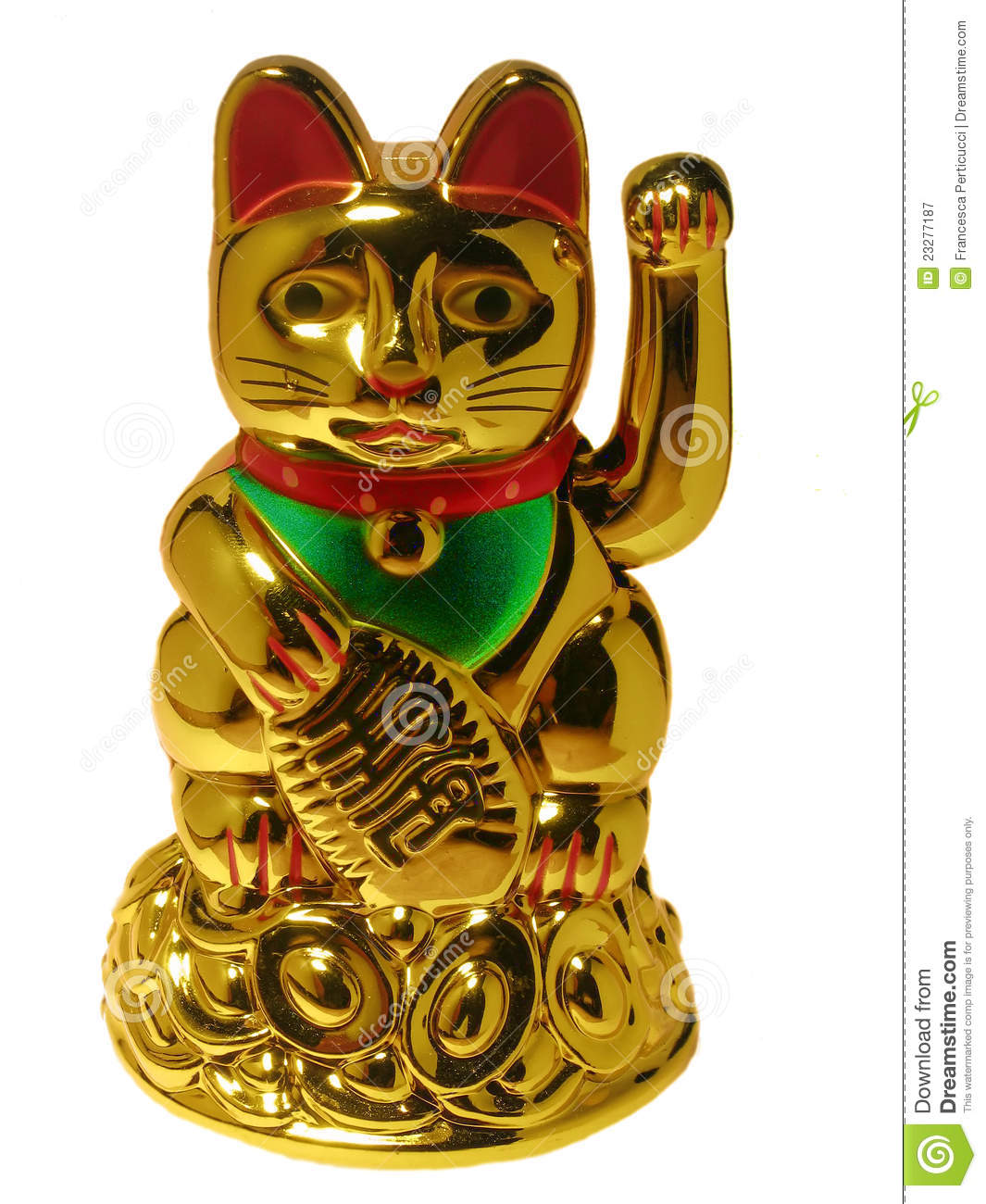 Chinese Lucky Cat On W...
