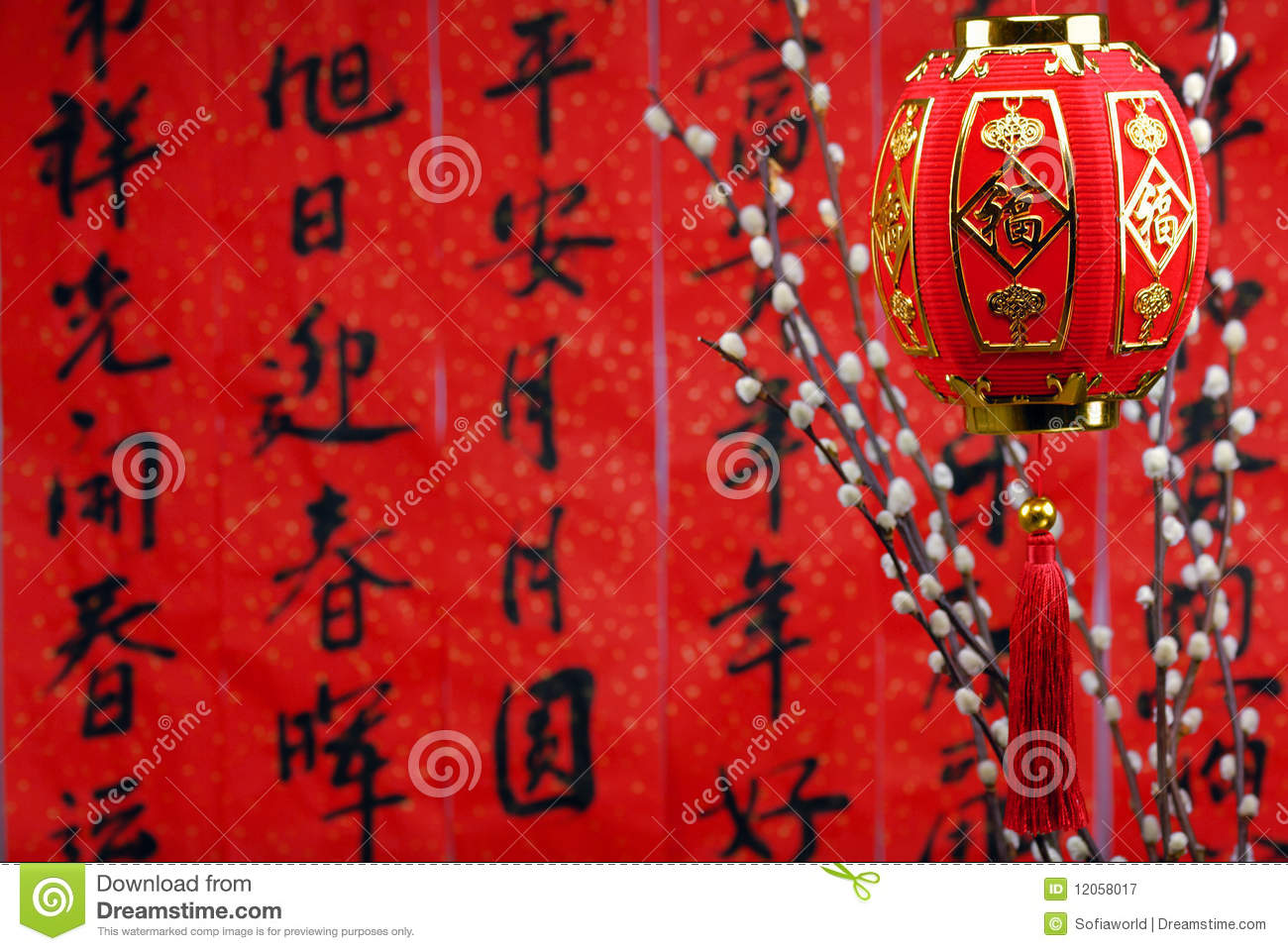 Chinese lunar new year decoration royalty free stock - Lunar new year decorations ...