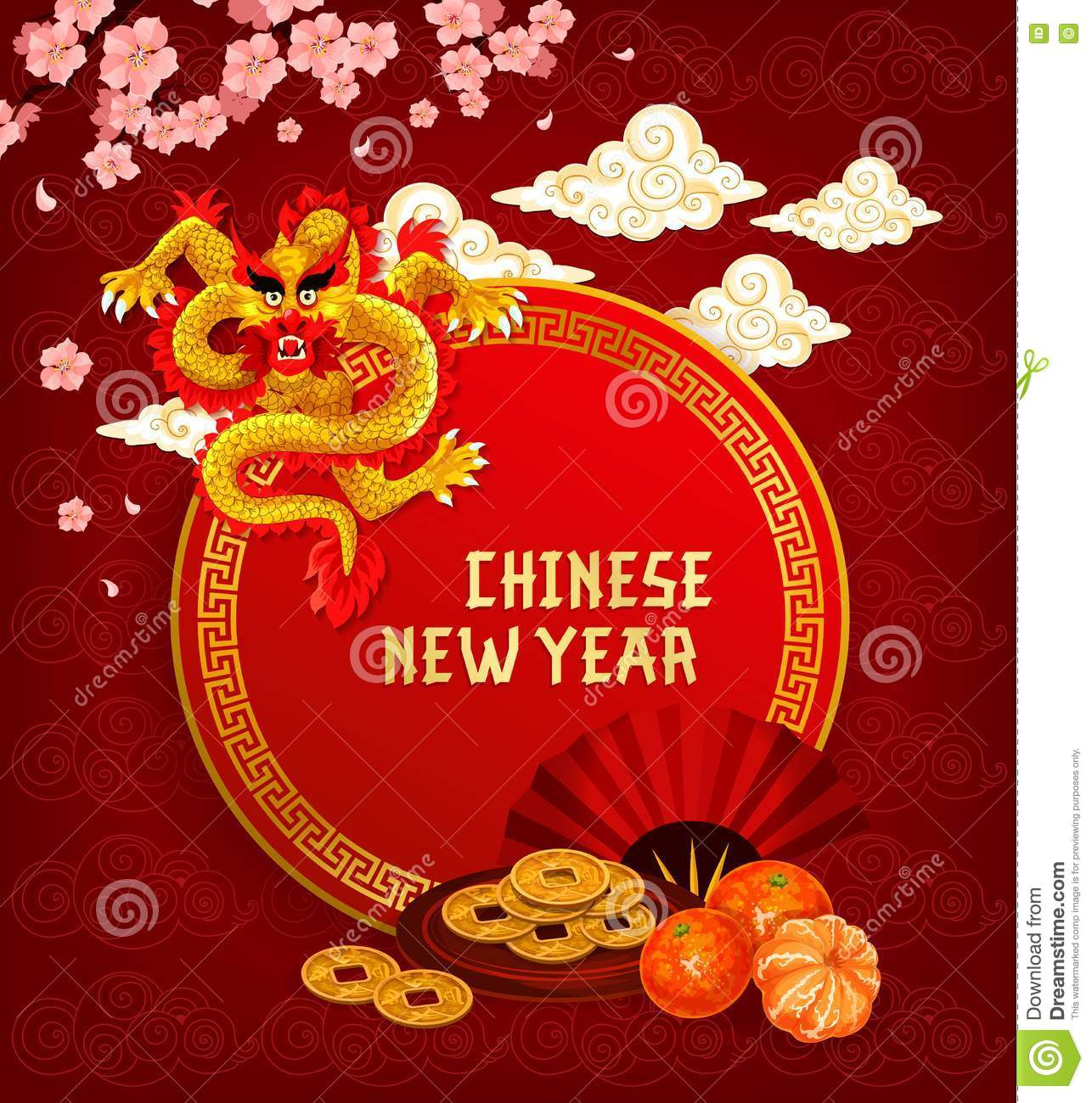 Chinese lunar new year greeting card with dragon stock vector download chinese lunar new year greeting card with dragon stock vector illustration of lunar m4hsunfo