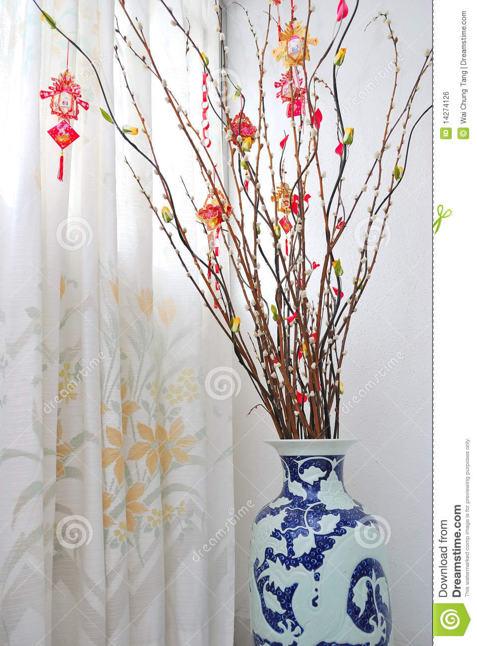 Chinese Lunar New Year Tree Decoration Royalty Free Stock