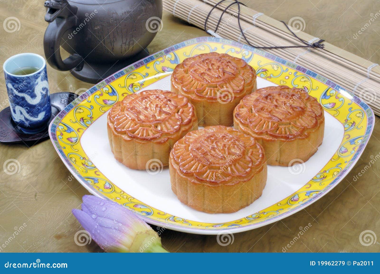Chinese maancake en thee