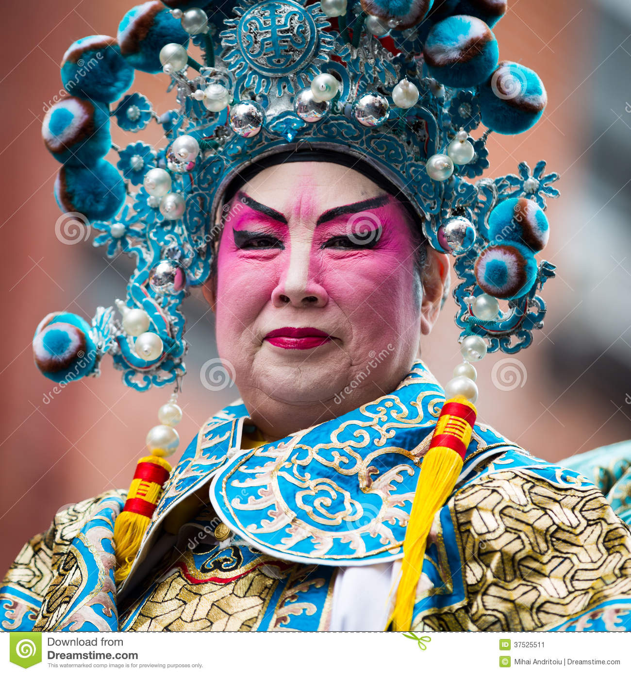 Chinese man parades at the Chines New Year Festival